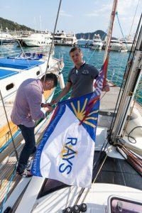 Батапупа. Адмиральский флаг на флагмане.