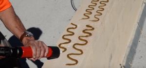 Нанесение геля на конструкцию