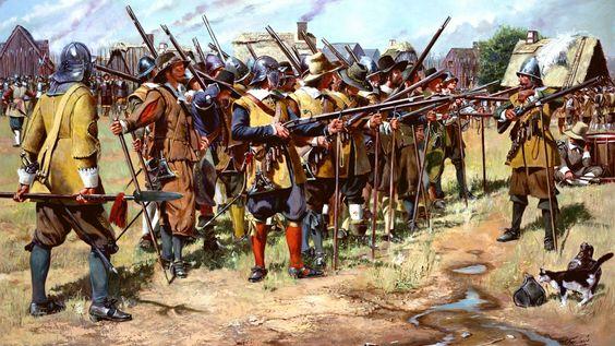 Английские мушкетеры, XVII век