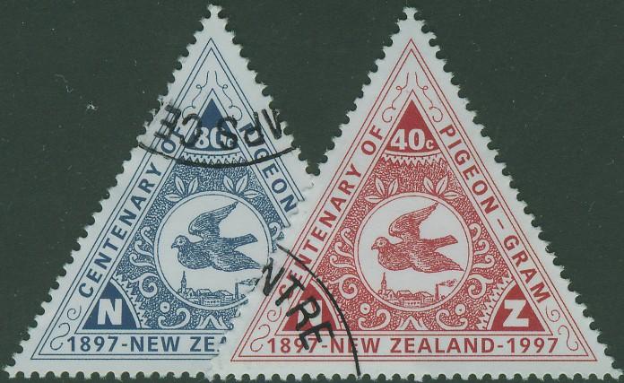 Юбилейная марка голубиной почты Новой зеландии, выпущена в честь столетия основания голубиной почты
