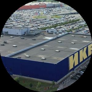 Крыша гипермаркета